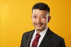 Happy asian guy headshot royalty free stock photos