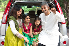 Happy Asian Indian family Stock Photography