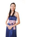 Happy Asian lady Royalty Free Stock Photos