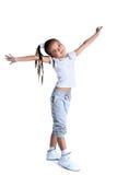 Happy asian little girl in sportswear Stock Image
