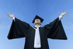 Happy asian male graduate Stock Photography