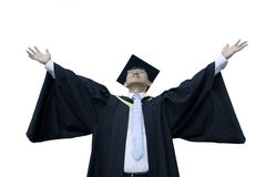 Happy asian male graduate Royalty Free Stock Photography