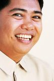 Happy asian man. Asian man with a happy surprise expression royalty free stock photos