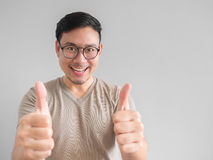 Happy Asian man. Happy Asian man with eyeglasses stock photography