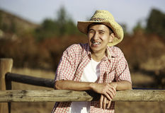 Happy Asian Man. Portrait of a happy Asian young man being outdoor Royalty Free Stock Image