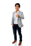 Happy asian man showing thumb up Royalty Free Stock Photo