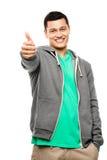 Happy asian man thumbs up Stock Photos