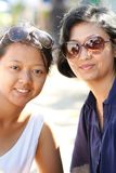 Happy asian mother and daughter portrait Stock Photo