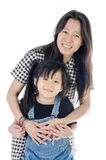 Happy asian mother and daughter smiling Royalty Free Stock Photography