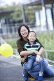 Happy asian mother and son Royalty Free Stock Images