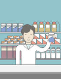 Happy asian pharmacist Stock Photo