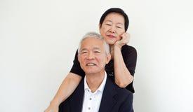 Happy Asian senior couple, family business owner partner portrai Stock Image