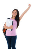 Happy Asian teen college student Royalty Free Stock Photo