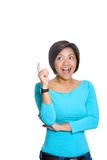Happy  Asian woman with a brilliant idea Stock Image