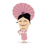 Happy asian woman clipart Stock Photos
