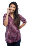 Happy asian woman making a call Stock Images