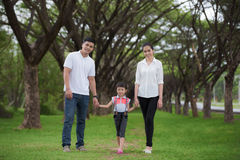 Happy asian young family spending Royalty Free Stock Photos