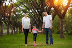 Happy asian young family spending Royalty Free Stock Photo