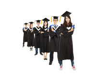 Young graduate students group Royalty Free Stock Photography