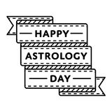 Happy astrology day greeting emblem Stock Photography