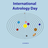 Happy astrology day Stock Image