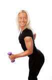 Happy athlete doing exercise Royalty Free Stock Photography