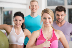 Happy athletes after workout Royalty Free Stock Photos