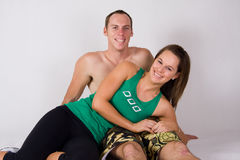 Happy athletic couple Royalty Free Stock Photos