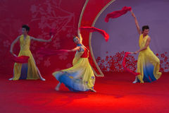 Happy atmosphere. Chinese dance, there are a lot of performance in the Chinese New Year Stock Image
