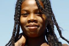 Happy attractive african girl, Africa. Happy attractive african girl, Madagascar Stock Image