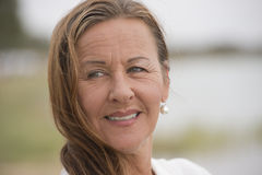 Happy attractive confident mature woman Royalty Free Stock Image