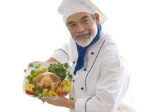 Happy attractive cook stock photos