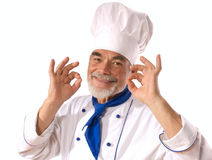 Happy attractive cook Royalty Free Stock Photography