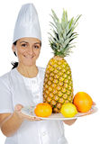 Happy attractive cook woman Royalty Free Stock Photo
