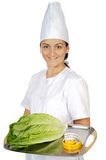 Happy attractive cook woman Royalty Free Stock Photography