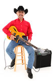 Happy Attractive Country Musician Age 75 Stock Photo