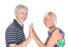 Happy attractive middle-aged couple Stock Images