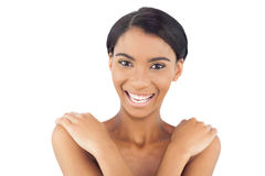 Happy attractive model posing Royalty Free Stock Photography