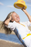 Happy attractive senior woman summer portrait Stock Photo