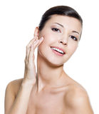 Happy attractive woman with health skin of a face Royalty Free Stock Image