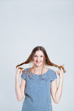 Happy attractive woman Stock Image