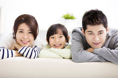 Happy Attractive Young  Family and little girl Stock Photography