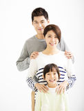 Happy Attractive Young  Family Portrait Royalty Free Stock Photos