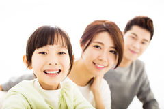 Happy Attractive Young  Family Portrait Royalty Free Stock Photography