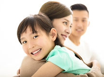 Happy Attractive Young  Family Portrait Royalty Free Stock Images