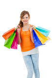 Happy attractive young shopaholic Royalty Free Stock Photo