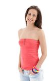 Happy attractive young woman Royalty Free Stock Photo