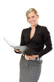 Happy auditor business woman Stock Photo