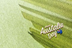 Happy Australia Day background with shadows stock image