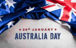 Free Happy Australia Day Concept. Australian Flag Against Old Stone Background. 26 January Royalty Free Stock Photos - 204779408